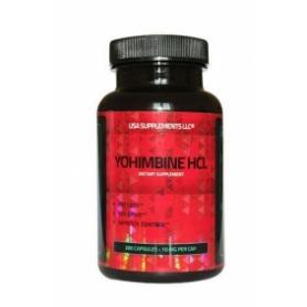 USA Supplements LLC- Yohimbine HCL 10 mg 200 kapsúl