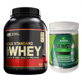 Optimum Nutrition - 100% Whey Gold Standard 2270g + Musclebody Nutrition - Bcaa Complex 4:1:1 400g